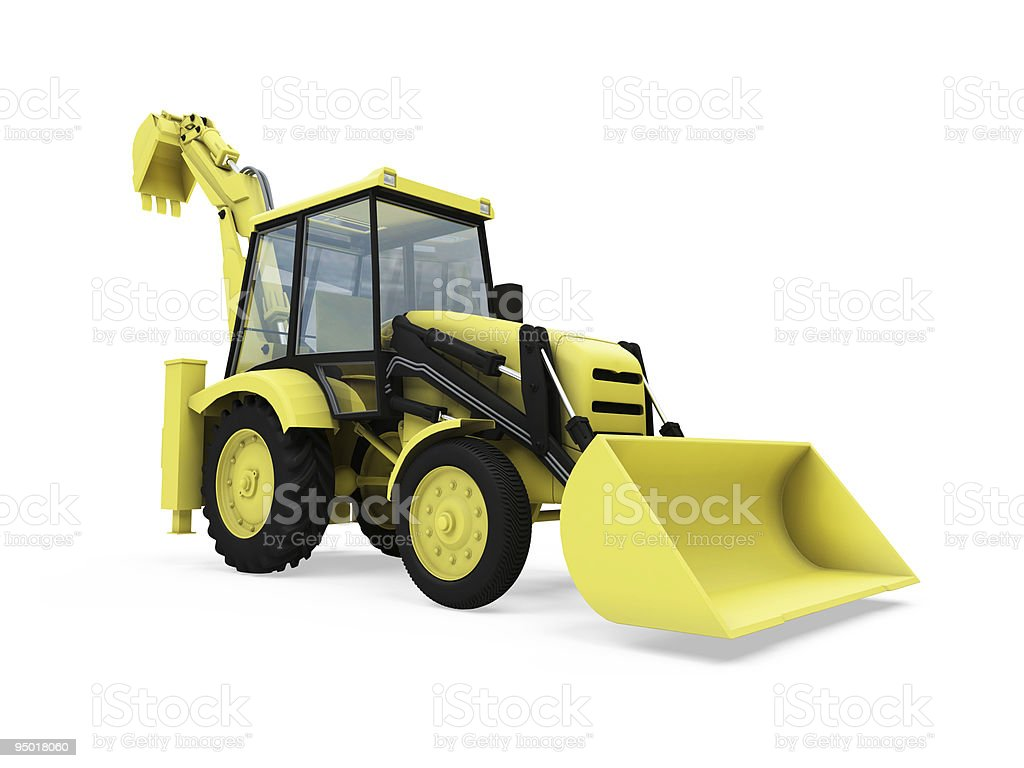 Construction truck isolated view royalty-free stock photo