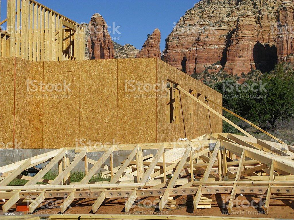 Construction Truss New House royalty-free stock photo