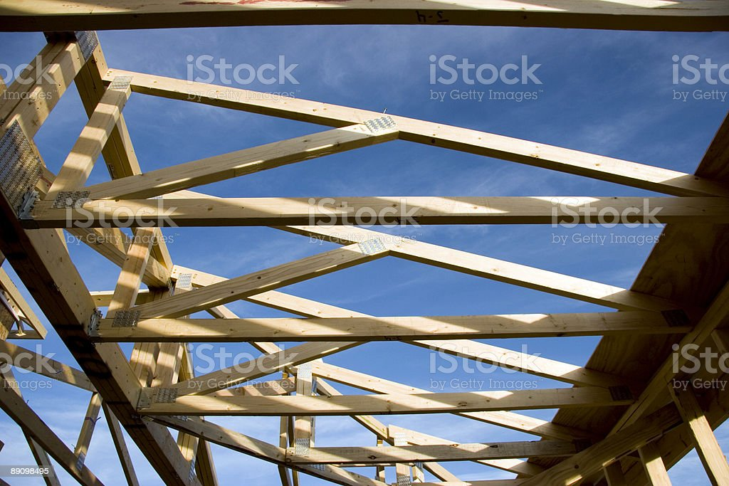 Construction Trussle, Roof royalty-free stock photo