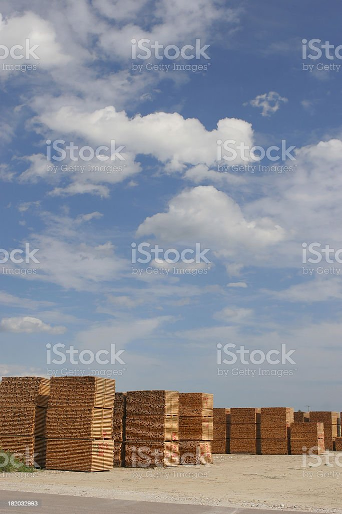 Construction Wood Yard royalty-free stock photo