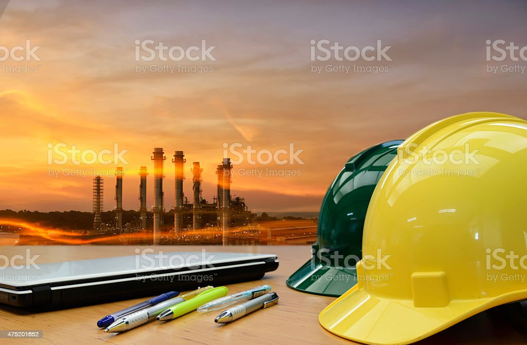 Construction  work Safety helmet ,safety first sign, stock photo