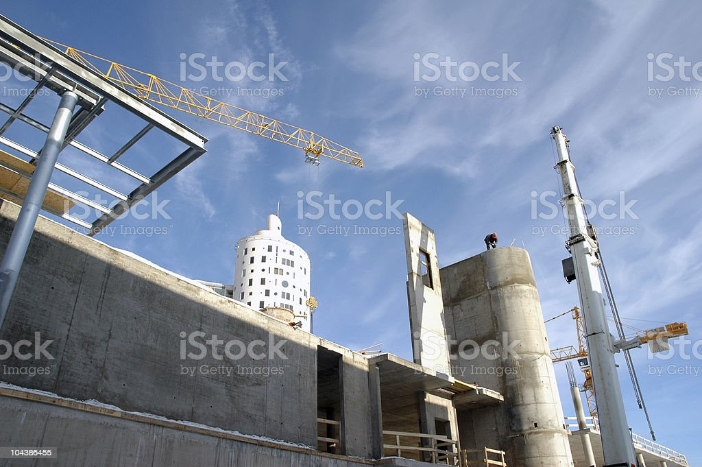 Construction work site royalty-free stock photo