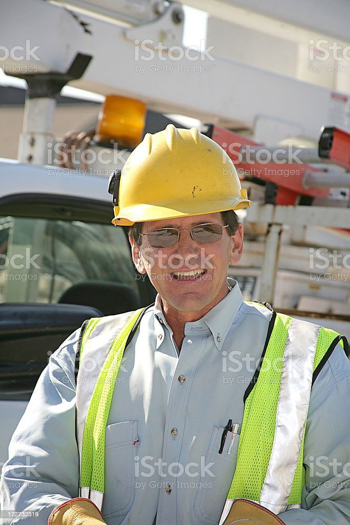 Construction Work With Truck royalty-free stock photo
