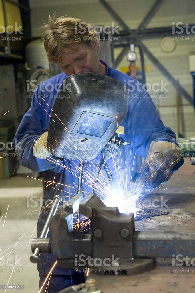 Construction worker at work. royalty-free stock photo