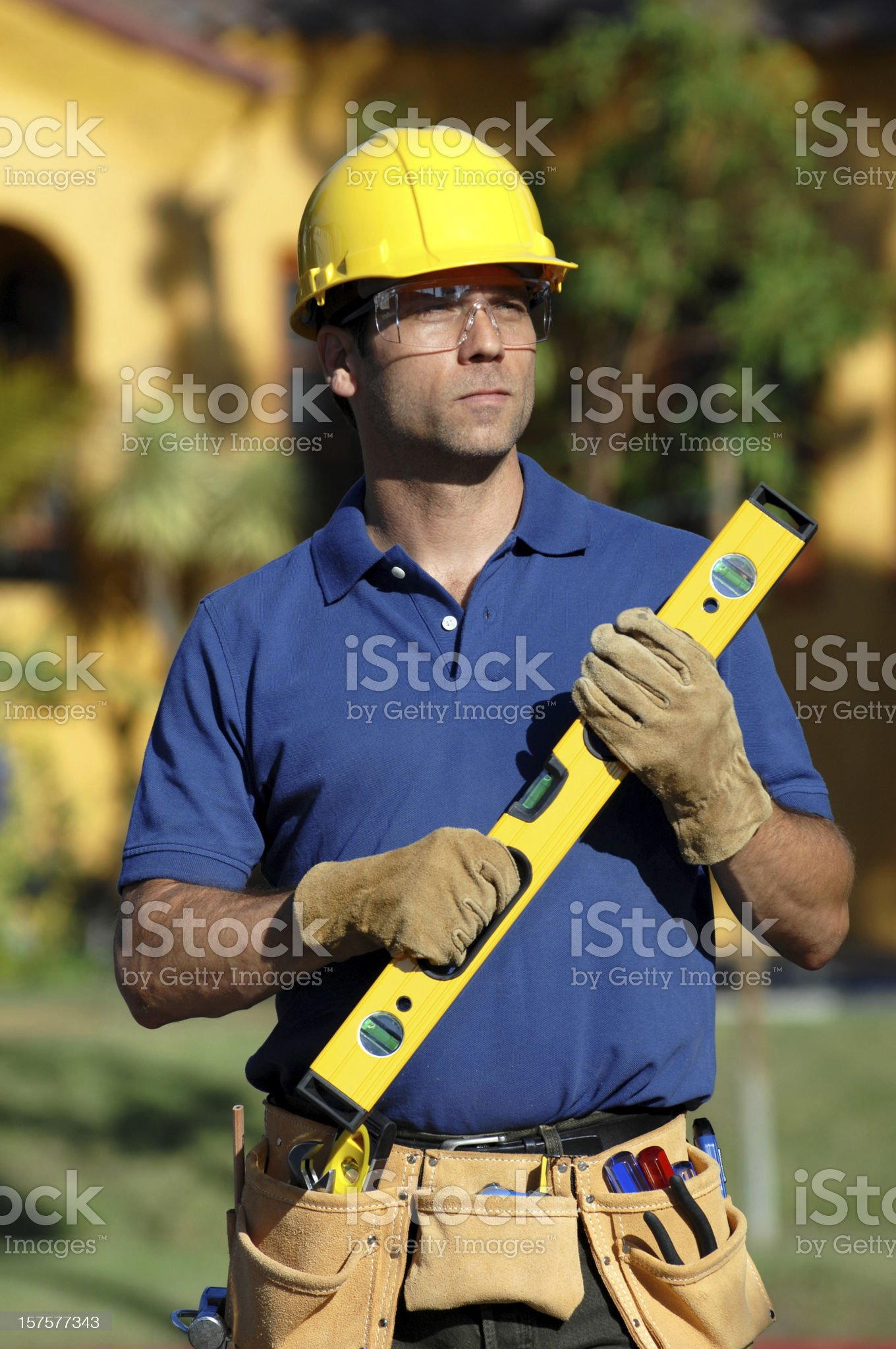 Construction Worker Contractor on Site royalty-free stock photo