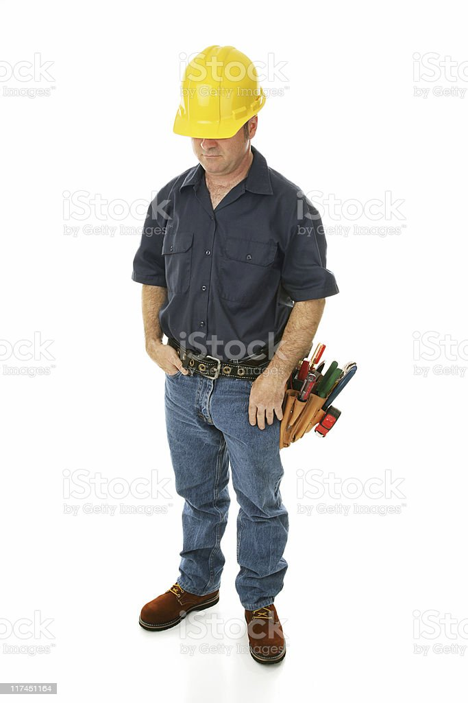 Construction Worker Depressed royalty-free stock photo