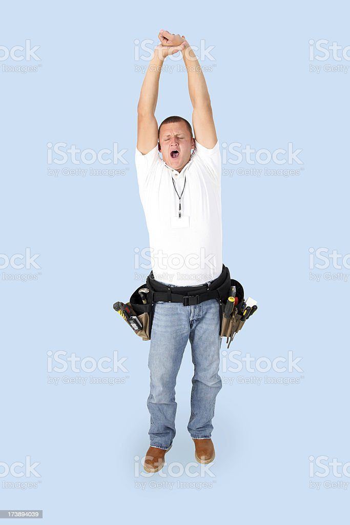 Construction Worker on any color background. (Clipping Path Included) royalty-free stock photo