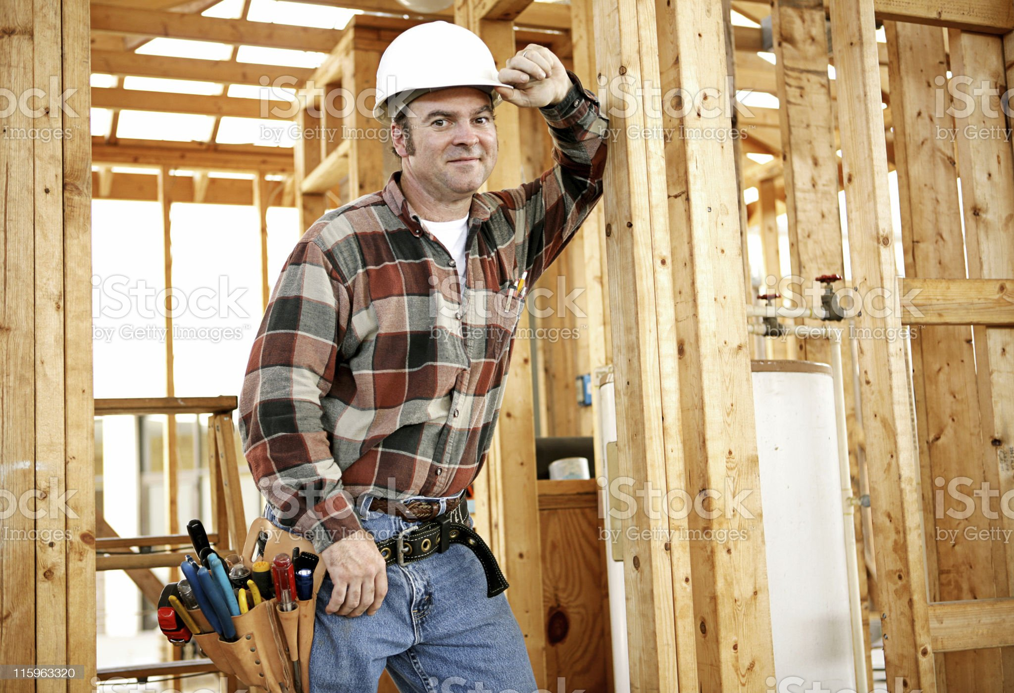 Construction Worker on Site royalty-free stock photo