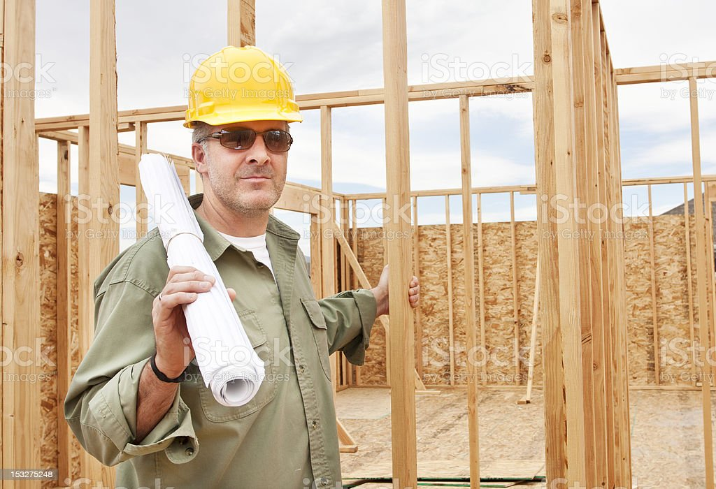 Construction Worker on the Job royalty-free stock photo