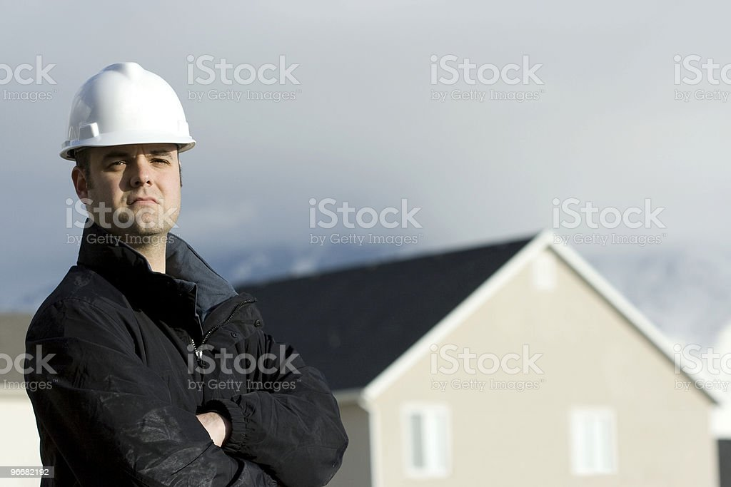 Construction Worker Or Contractor royalty-free stock photo