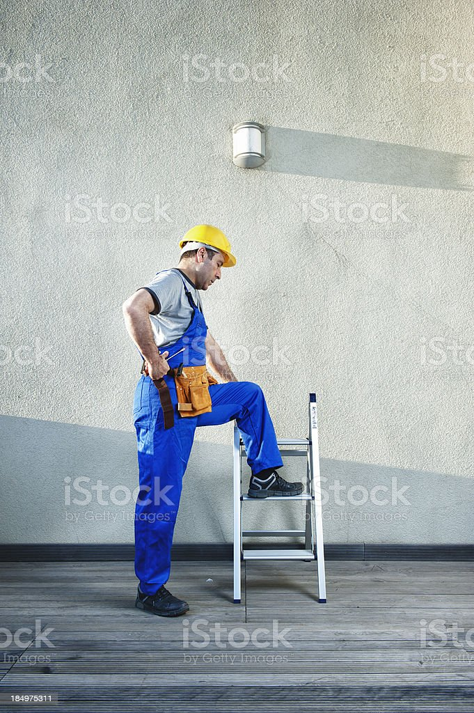 Construction Worker royalty-free stock photo
