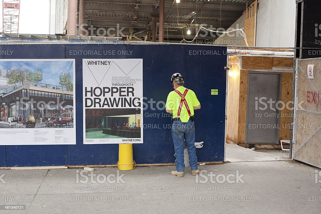 NYC Construction Worker stock photo