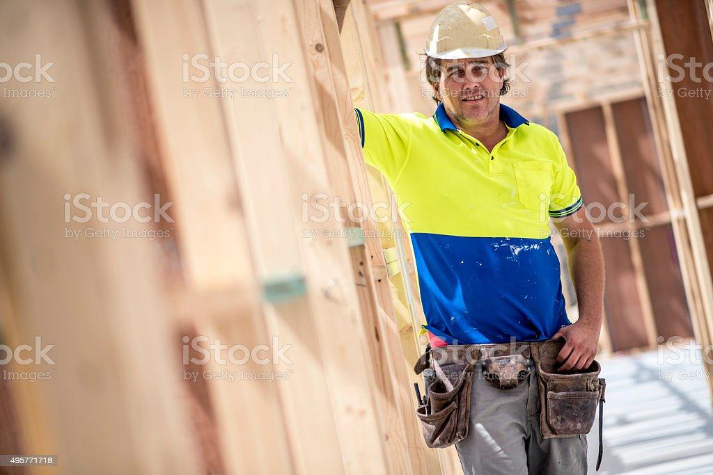 Construction Worker Portrait stock photo