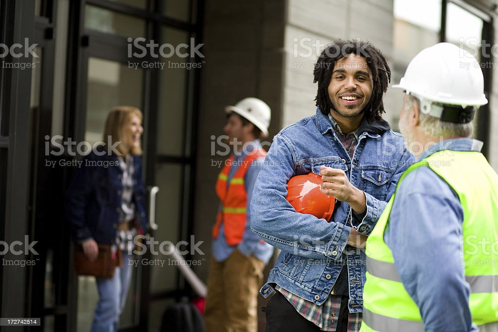 construction worker portraits royalty-free stock photo