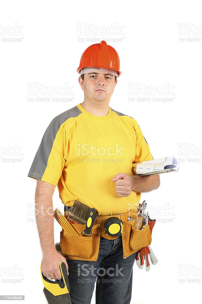 Construction worker XXL royalty-free stock photo