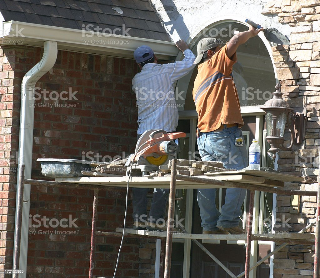 Construction Workers- #3 in Series royalty-free stock photo