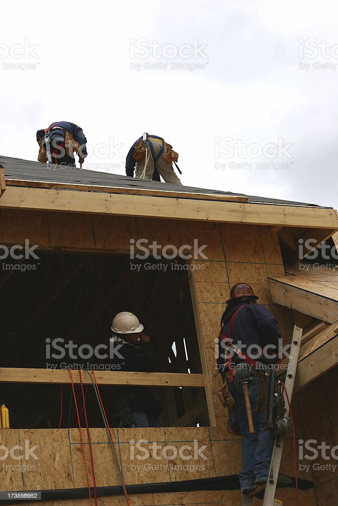 Construction Workers 3 royalty-free stock photo