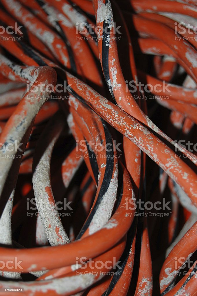 Construction Worker's Electrical Cord royalty-free stock photo