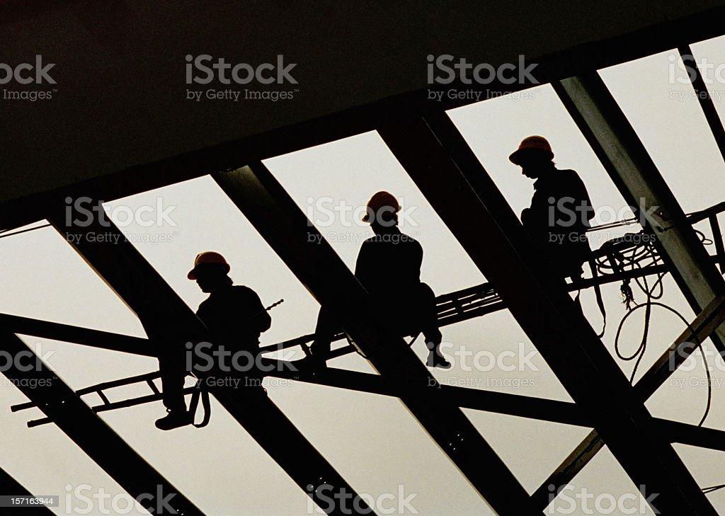Construction workers in Vietnam  XXL stock photo