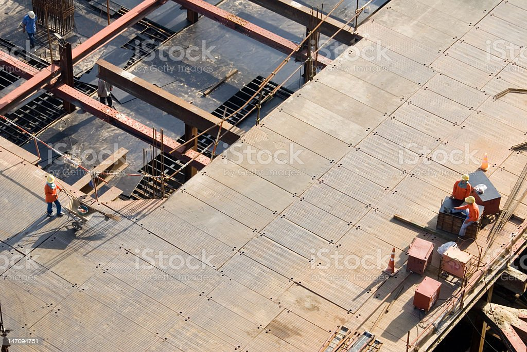 Construction workers on site in Thailand royalty-free stock photo