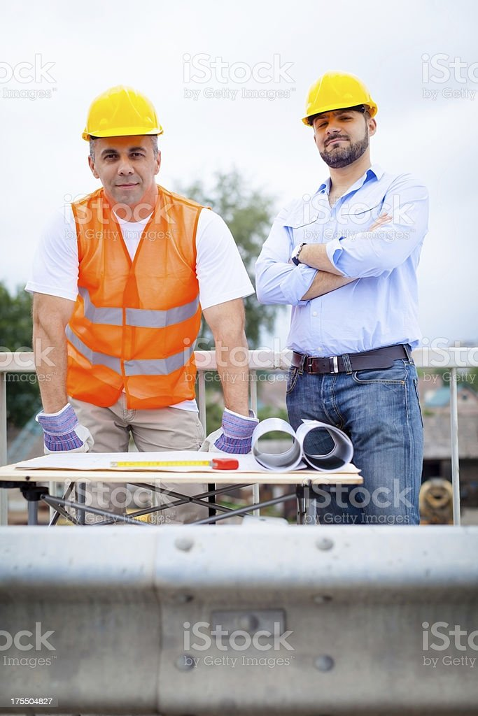 Construction workers royalty-free stock photo