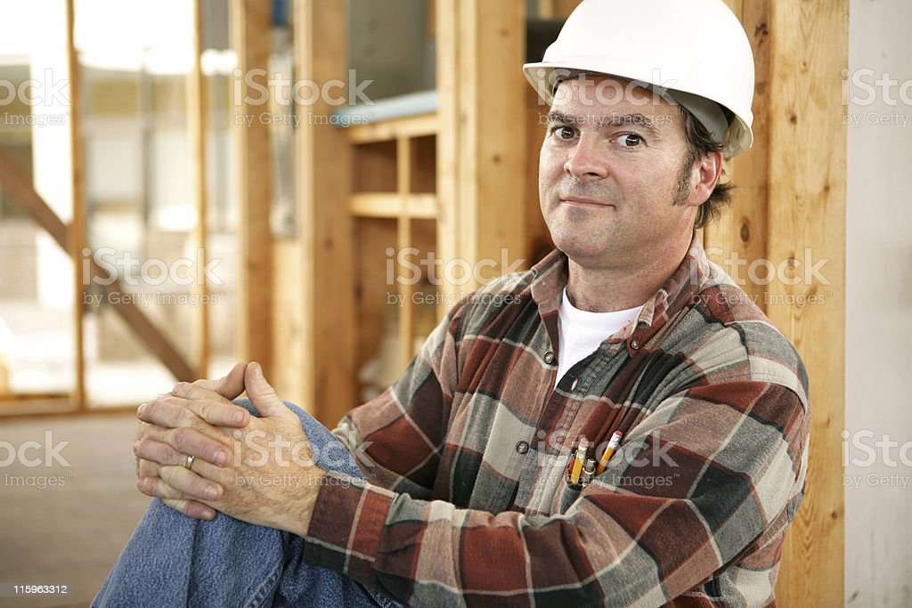 Construction Workers Pride royalty-free stock photo