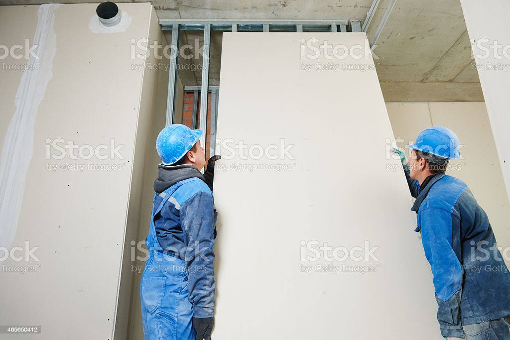 Construction workers team stock photo