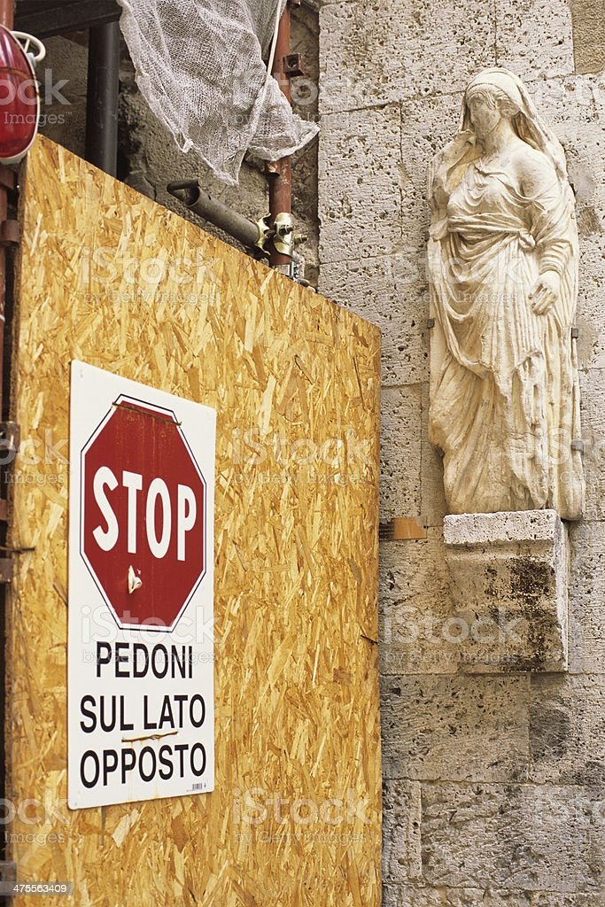 Construction works and art sites in Italy royalty-free stock photo