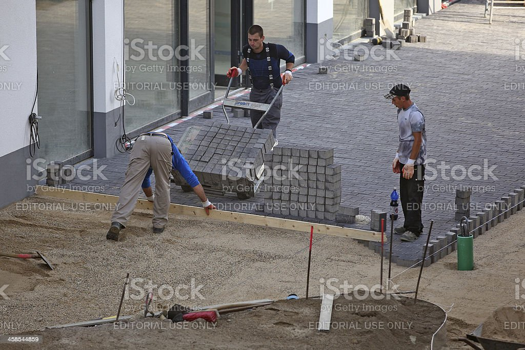 Construction Zone royalty-free stock photo
