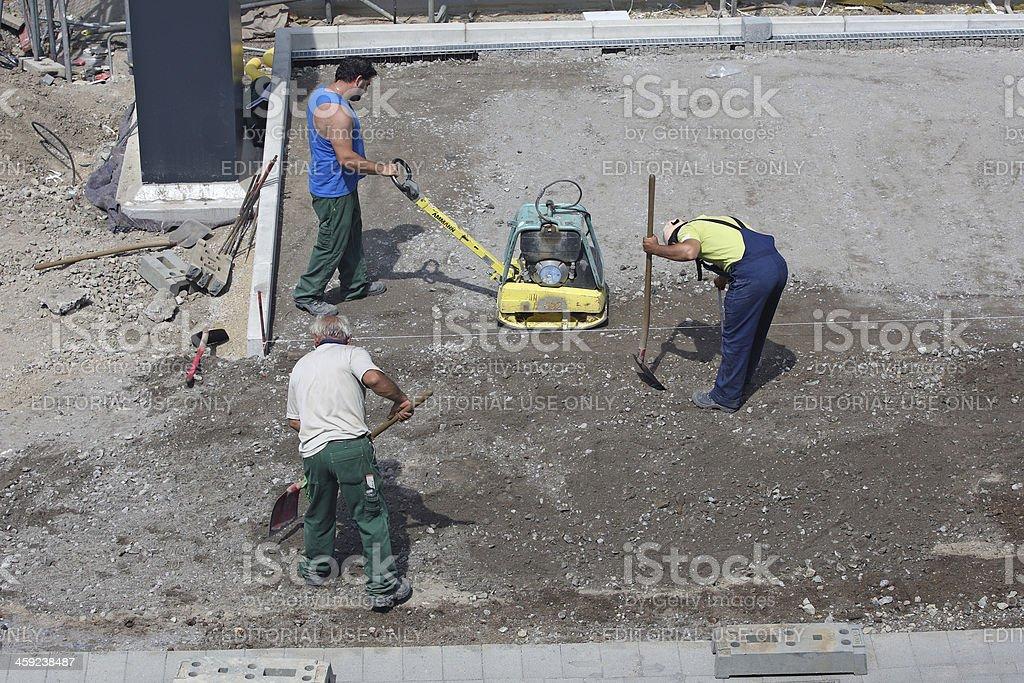 Construction Zone royalty-free stock photo