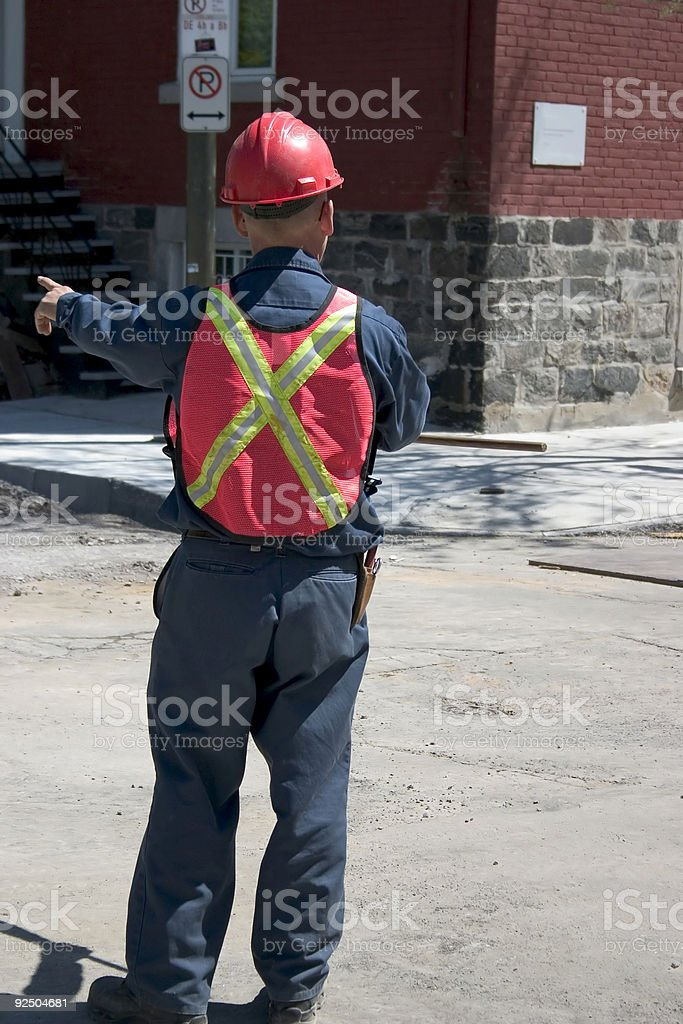 Constructions, City worker royalty-free stock photo
