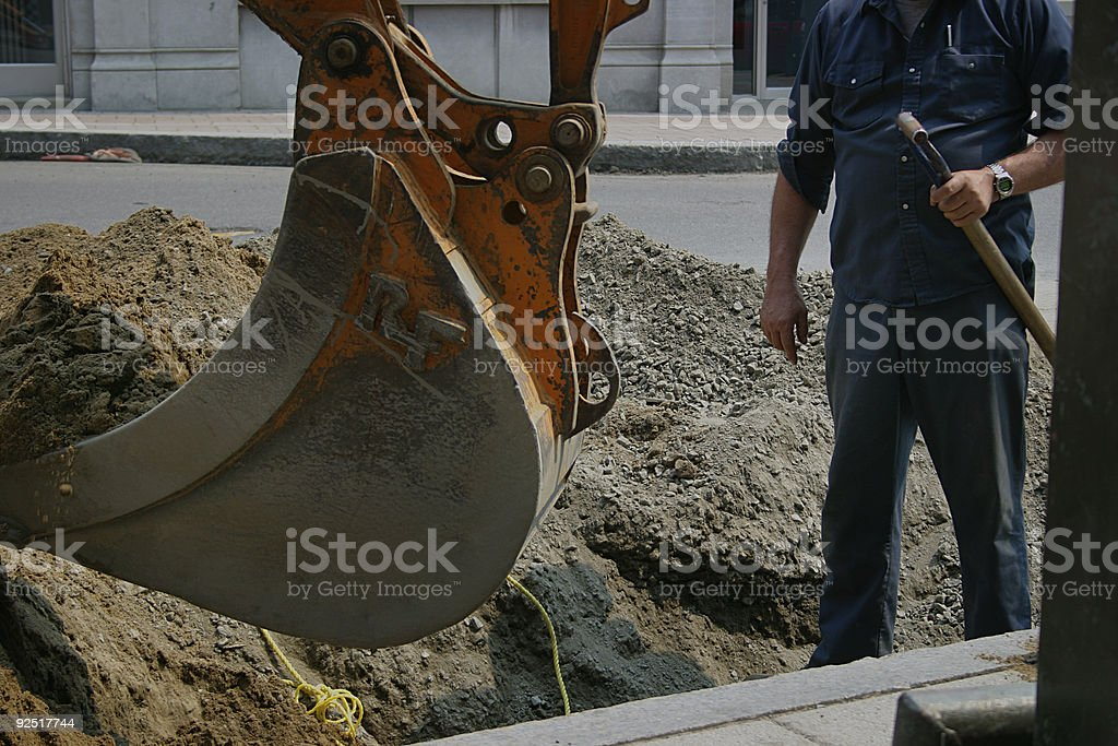 Constructions, City workers stock photo