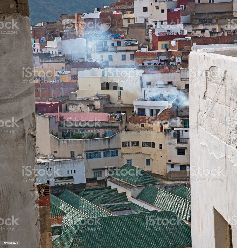 constructions from high in the       village    morocco africa f stock photo