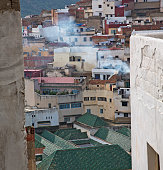 constructions from high in the       village    morocco africa f