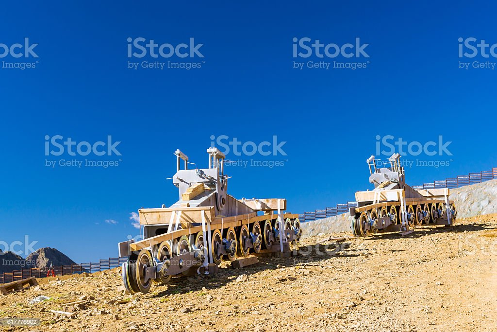 Constructive element of Funicular railway, Sochi stock photo