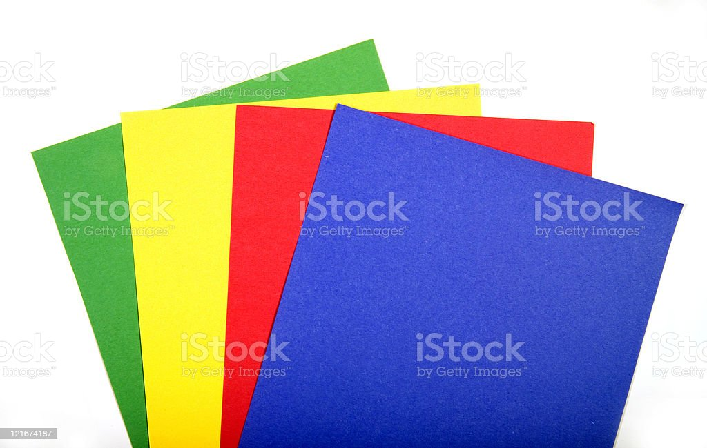 constuction paper stock photo