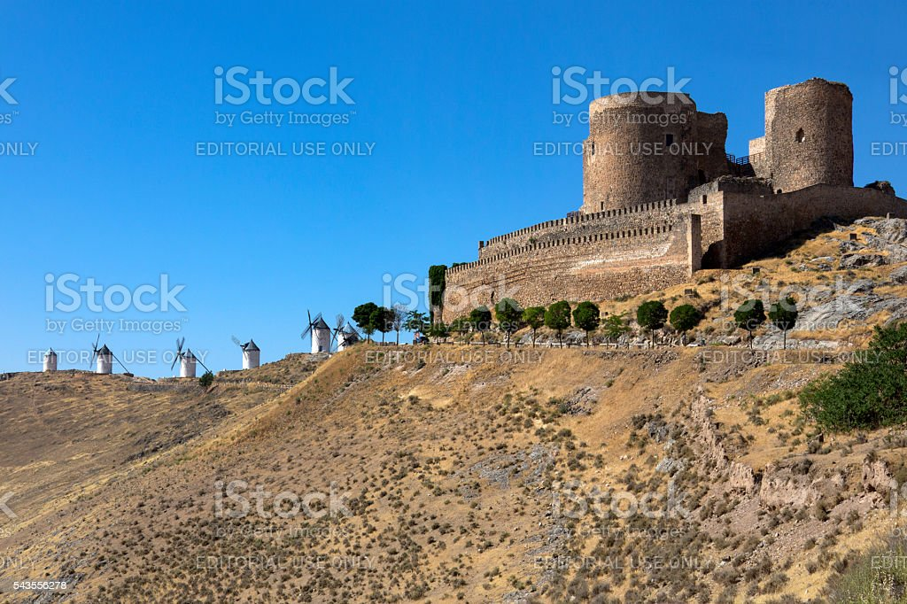 Consuegra Castle - La Mancha - Spain stock photo