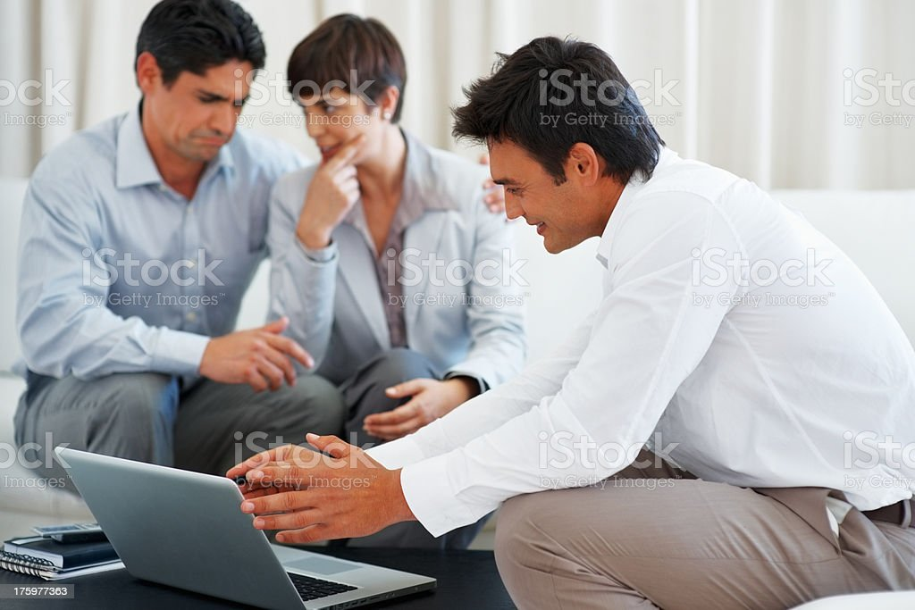 Consultancy discussion stock photo