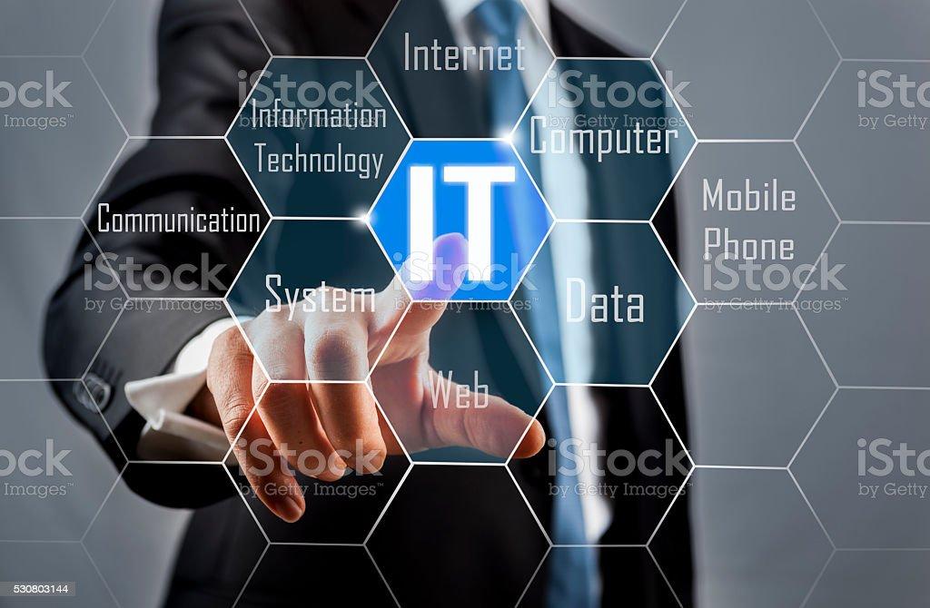 IT consultant concept stock photo