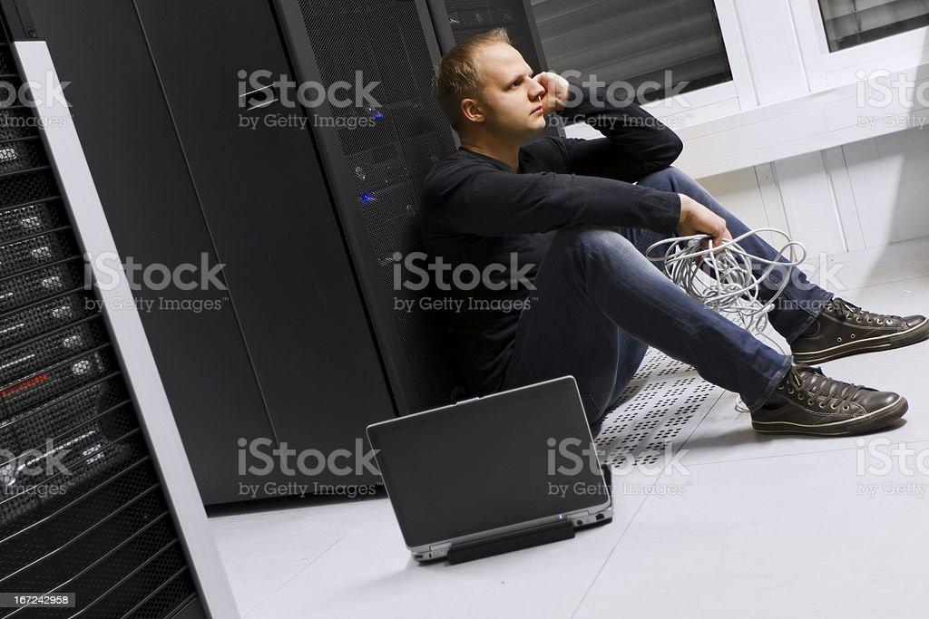 IT Consultant Taking a Break stock photo