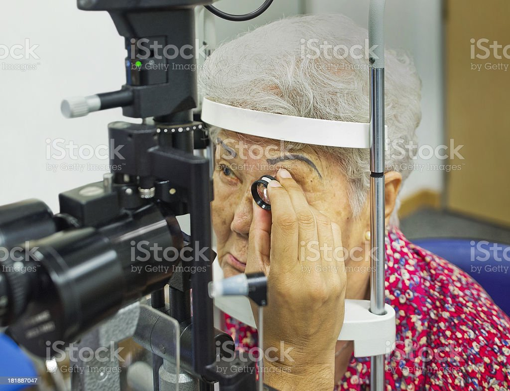 Consultation at the Eye Clinic stock photo