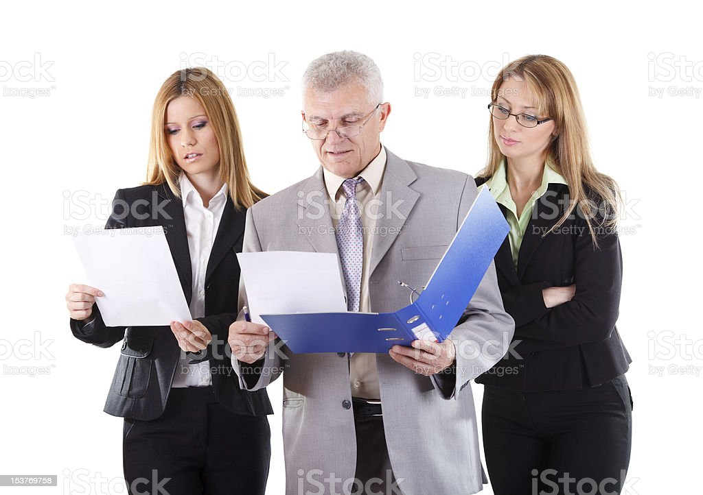 Consultation with senior manager royalty-free stock photo