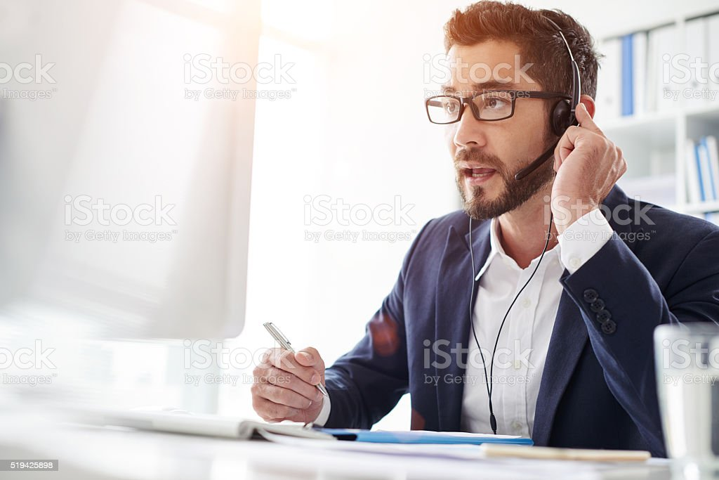 Consulting client stock photo