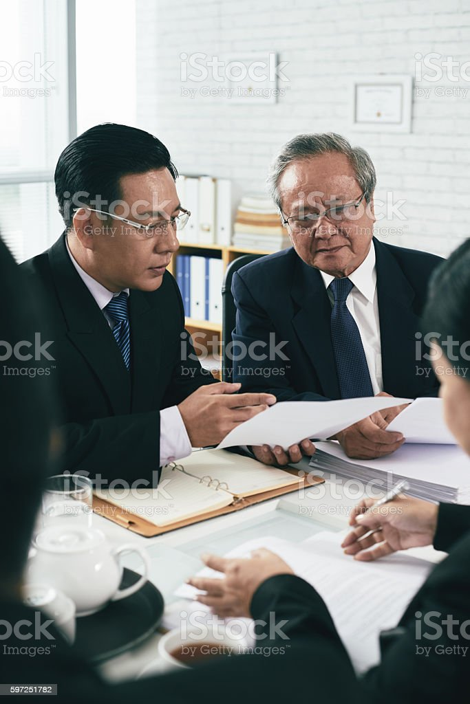 Consulting colleague stock photo