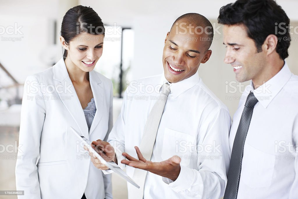 Consulting colleagues - Teamwork royalty-free stock photo