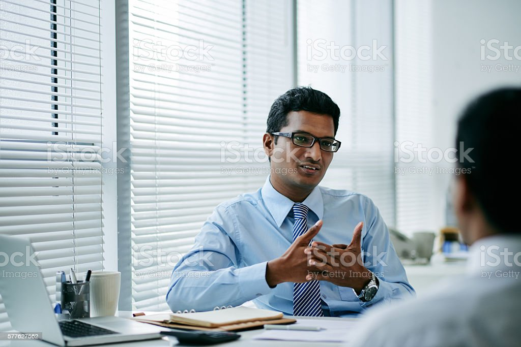 Consulting coworker stock photo