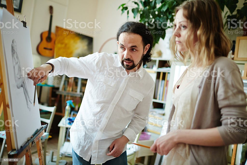Consulting student stock photo