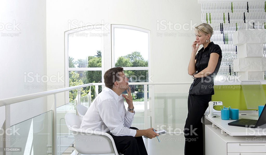 consulting the agenda royalty-free stock photo