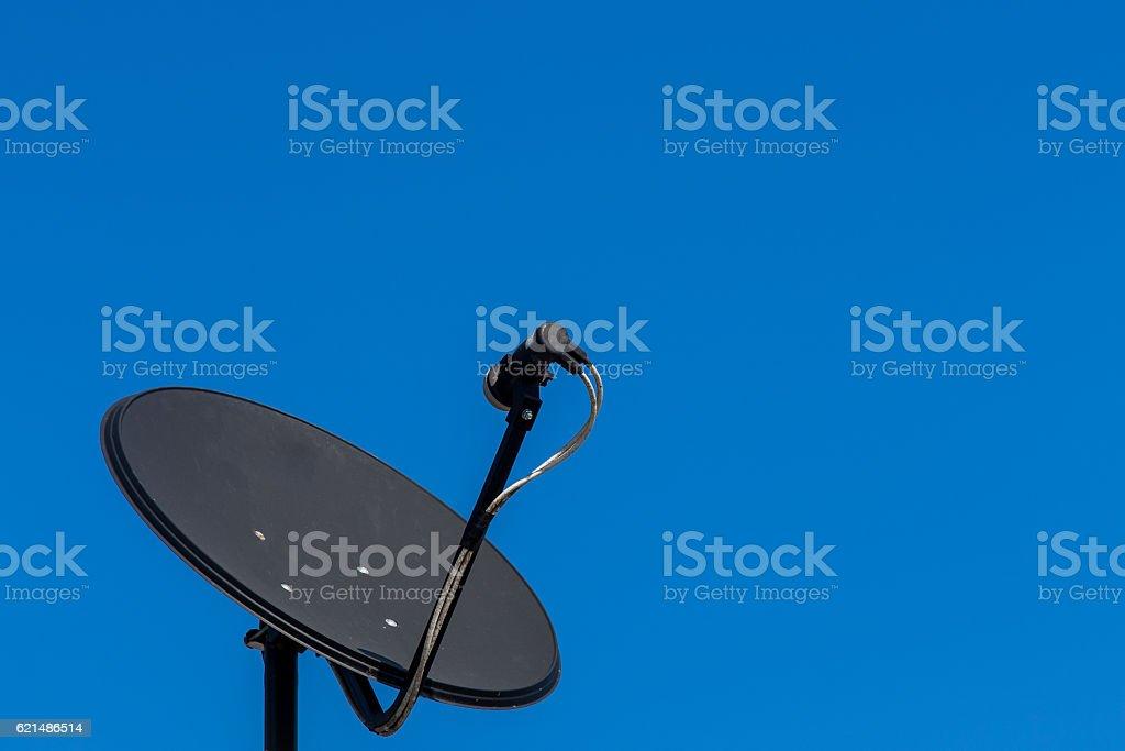 Consumer KU band satellite dish stock photo