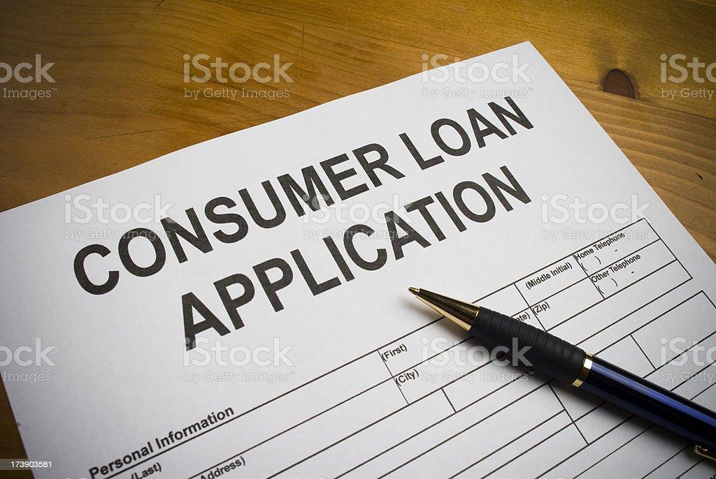Consumer Loan Application royalty-free stock photo